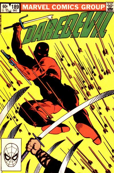 Cover for Daredevil (1964 series) #189 [Newsstand Edition]