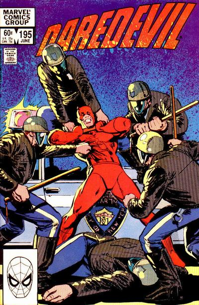 Cover for Daredevil (1964 series) #195 [Newsstand Edition]