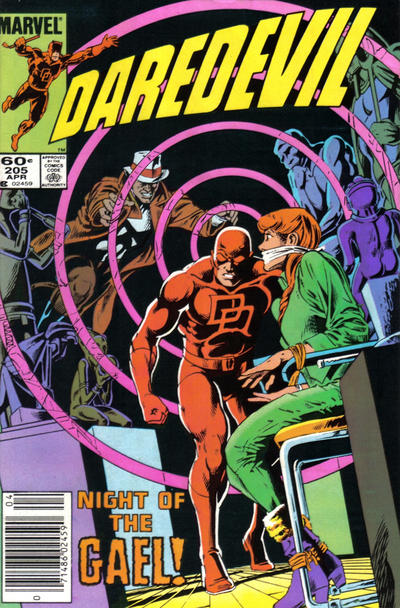 Cover for Daredevil (Marvel, 1964 series) #205 [Newsstand Edition]