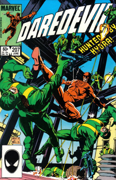 Cover for Daredevil (Marvel, 1964 series) #207 [Direct Edition]