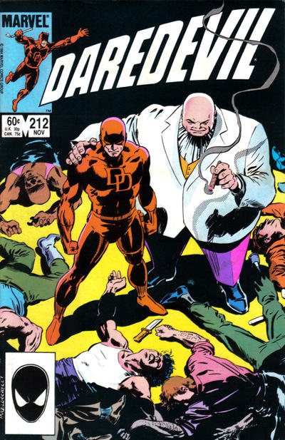 Cover for Daredevil (Marvel, 1964 series) #212 [Newsstand Edition]