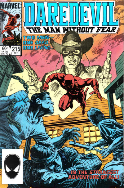 Cover for Daredevil (1964 series) #215 [Newsstand]