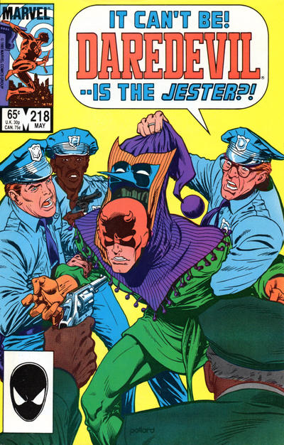 Cover for Daredevil (Marvel, 1964 series) #218 [Direct Edition]