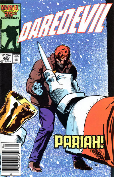 Cover for Daredevil (Marvel, 1964 series) #229 [Newsstand Edition]