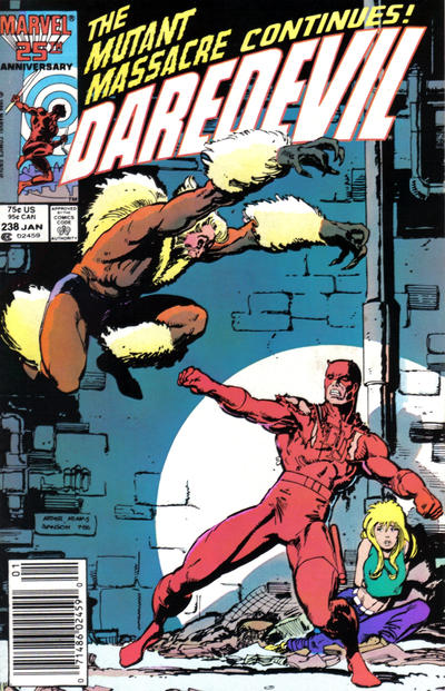 Cover for Daredevil (Marvel, 1964 series) #238 [Newsstand Edition]