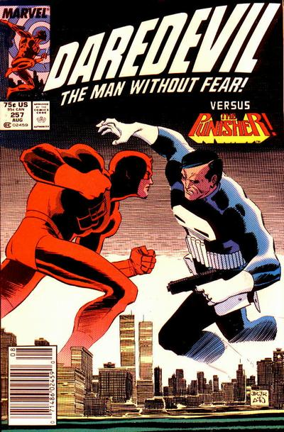 Cover for Daredevil (Marvel, 1964 series) #257 [Newsstand Edition]