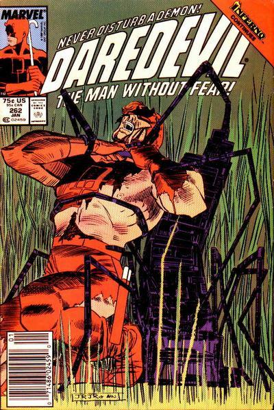Cover for Daredevil (1964 series) #262 [Newsstand Edition]