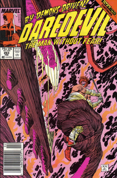 Cover for Daredevil (Marvel, 1964 series) #263 [Newsstand Edition]