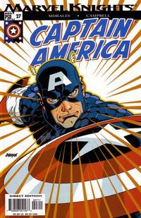 Cover for Captain America (Marvel, 2002 series) #27 [Direct Edition]