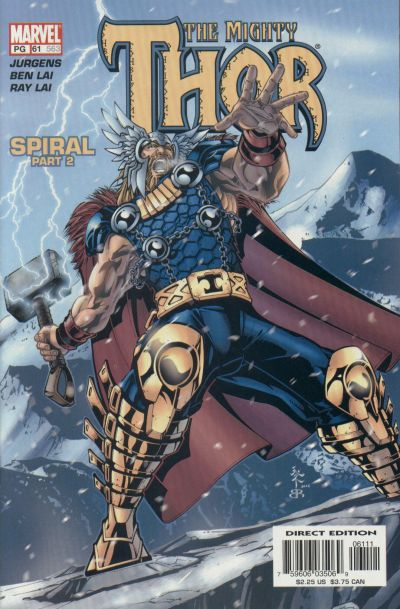 Cover for Thor (Marvel, 1998 series) #61 (563)