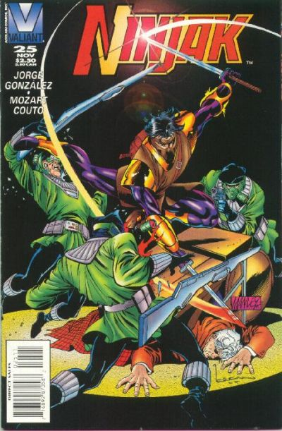 Cover for Ninjak (Acclaim / Valiant, 1994 series) #25