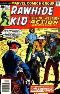 Cover for The Rawhide Kid (Marvel, 1960 series) #135
