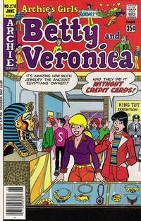 Cover Thumbnail for Archie's Girls Betty and Veronica (Archie, 1950 series) #270