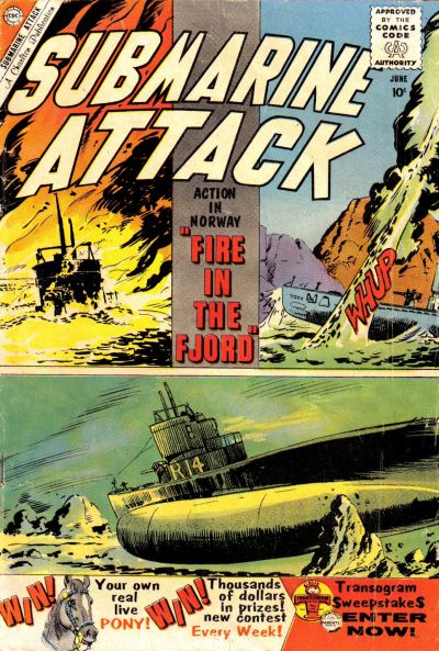 Cover for Submarine Attack (1958 series) #22