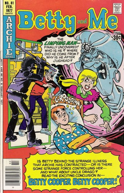 Cover for Betty and Me (Archie, 1965 series) #81