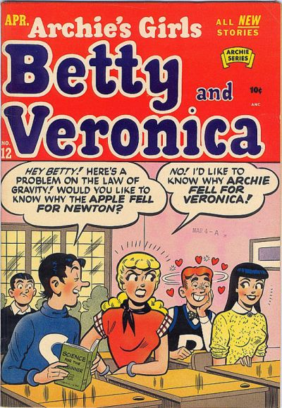 Cover for Archie's Girls Betty and Veronica (Archie, 1950 series) #12