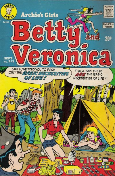 Cover for Archie's Girls Betty and Veronica (Archie, 1950 series) #213