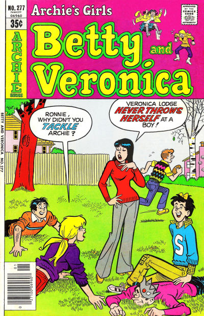 Cover for Archie's Girls Betty and Veronica (Archie, 1950 series) #277