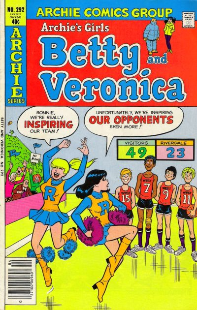 Cover for Archie's Girls Betty and Veronica (Archie, 1950 series) #292