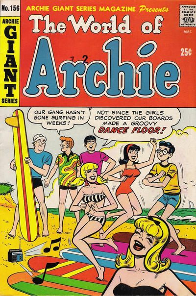 Cover for Archie Giant Series Magazine (Archie, 1954 series) #156