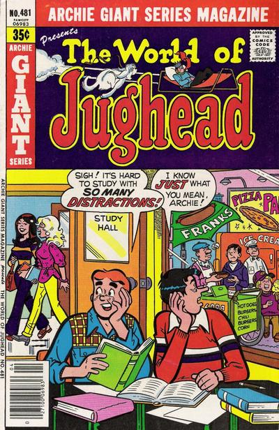 Cover for Archie Giant Series Magazine (Archie, 1954 series) #481