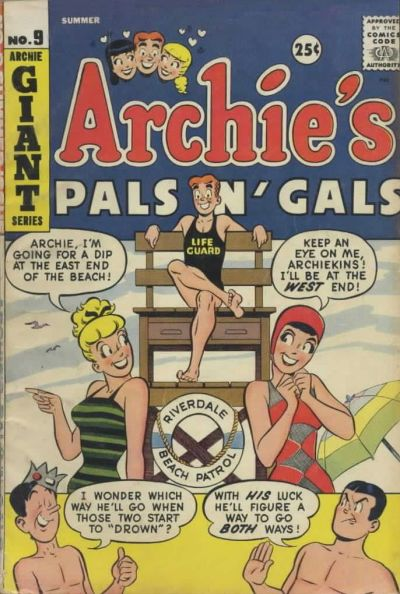 Cover for Archie's Pals 'n' Gals (Archie, 1952 series) #9