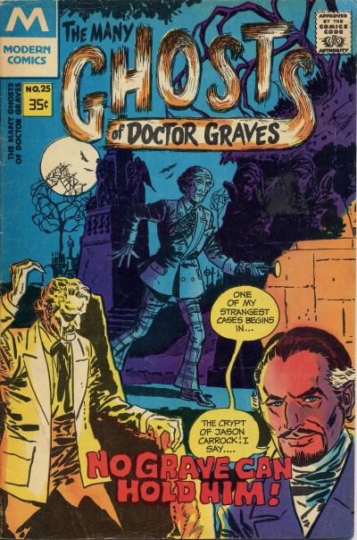 Cover for The Many Ghosts of Dr. Graves (Modern [1970s], 1978 series) #25