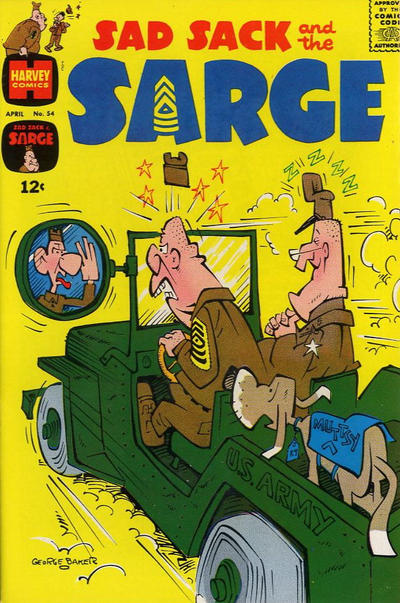 Cover for Sad Sack and the Sarge (Harvey, 1957 series) #54