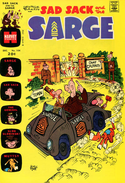 Cover for Sad Sack and the Sarge (Harvey, 1957 series) #104