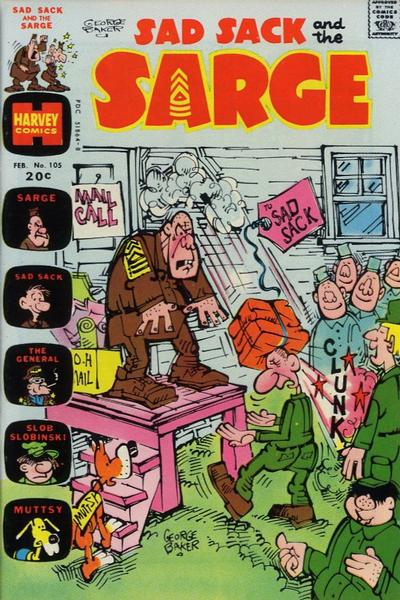 Cover for Sad Sack and the Sarge (Harvey, 1957 series) #105