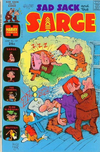 Cover for Sad Sack and the Sarge (Harvey, 1957 series) #107