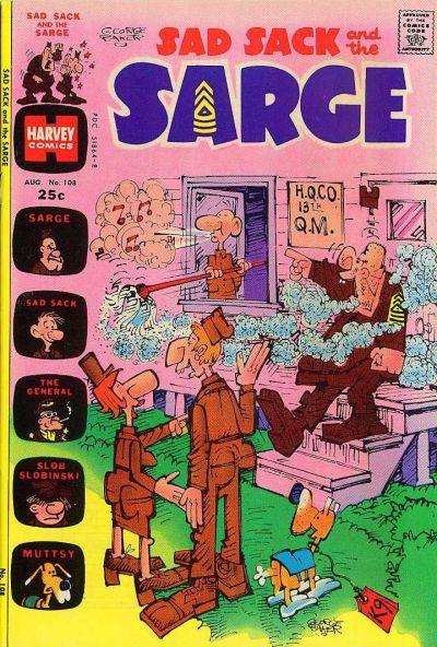 Cover for Sad Sack and the Sarge (Harvey, 1957 series) #108