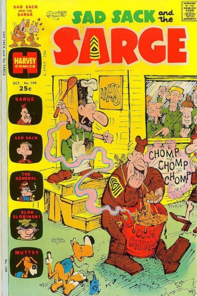 Cover for Sad Sack and the Sarge (Harvey, 1957 series) #109