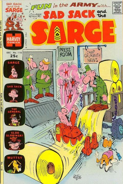 Cover for Sad Sack and the Sarge (Harvey, 1957 series) #110