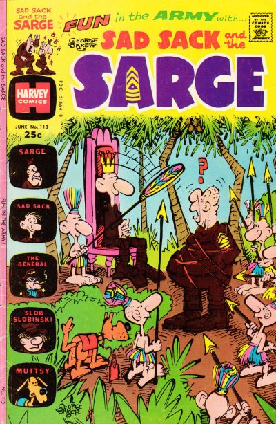 Cover for Sad Sack and the Sarge (Harvey, 1957 series) #113