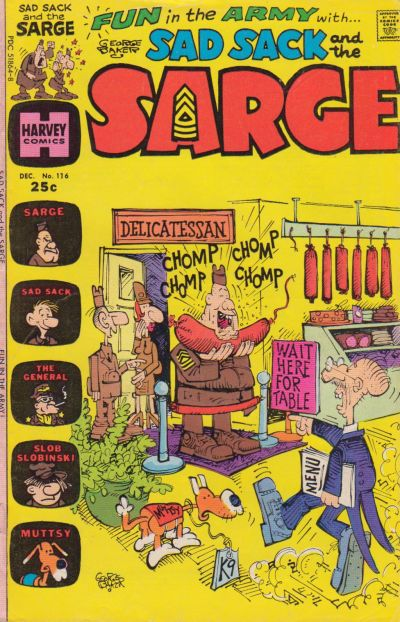 Cover for Sad Sack and the Sarge (Harvey, 1957 series) #116
