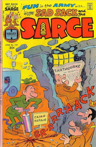 Cover for Sad Sack and the Sarge (Harvey, 1957 series) #125