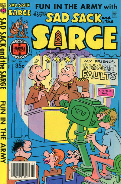 Cover for Sad Sack and the Sarge (Harvey, 1957 series) #134