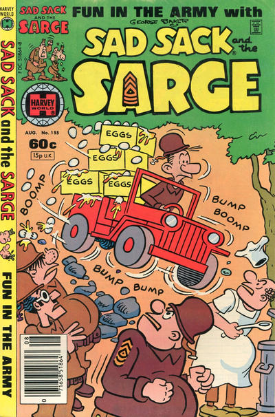 Cover for Sad Sack and the Sarge (Harvey, 1957 series) #155