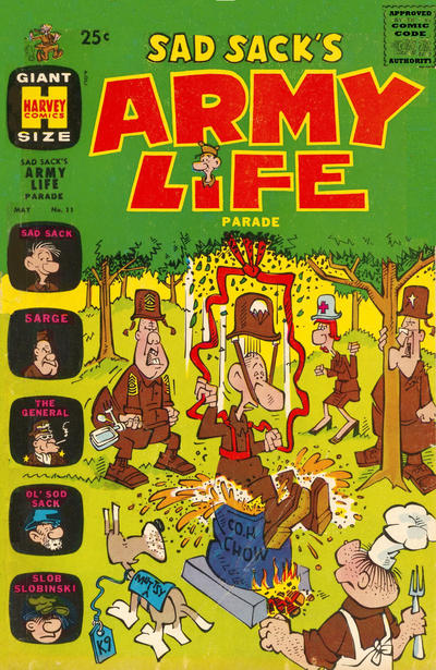 Cover for Sad Sack's Army Life Parade (1963 series) #11