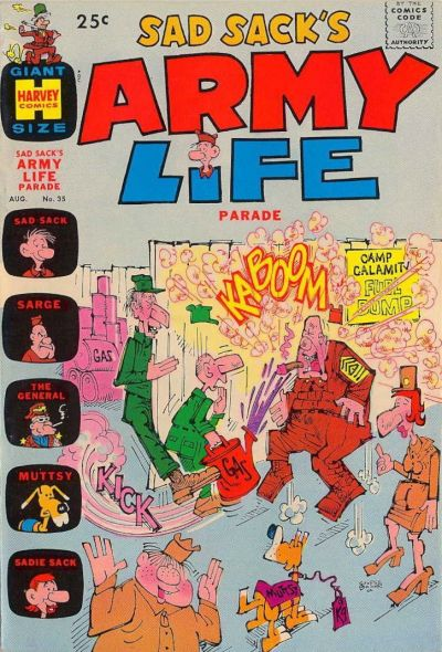 Cover for Sad Sack's Army Life Parade (Harvey, 1963 series) #35