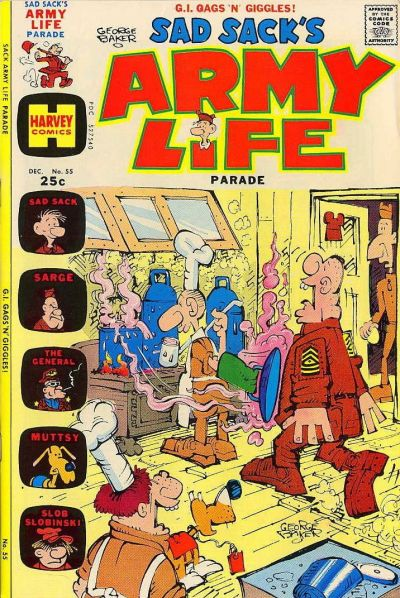 Cover for Sad Sack's Army Life Parade (Harvey, 1963 series) #55