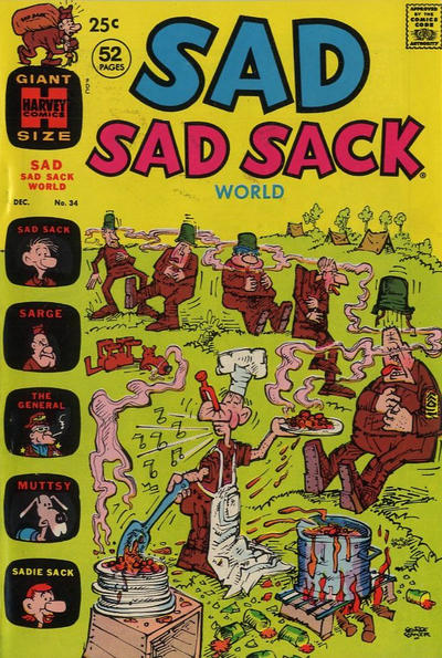 Cover for Sad Sad Sack World (Harvey, 1964 series) #34