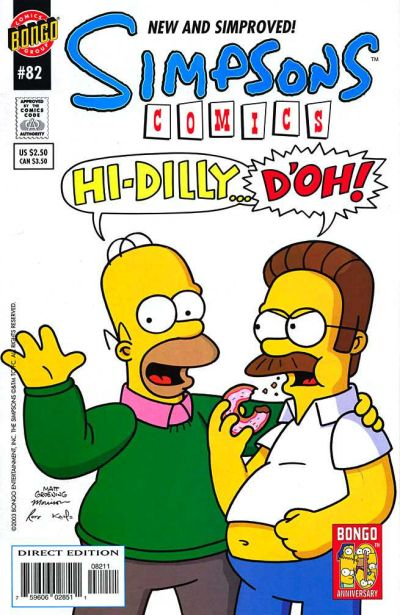 Cover for Simpsons Comics (Bongo, 1993 series) #82