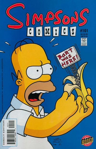 Cover for Simpsons Comics (Bongo, 1993 series) #101