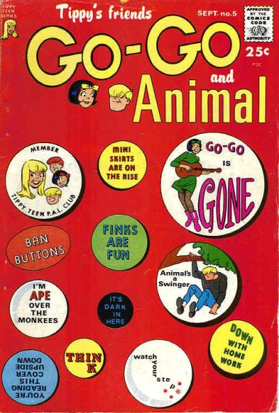 Cover for Tippy's Friends Go-Go and Animal (1966 series) #5