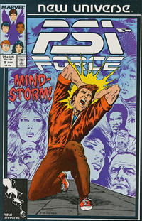 Cover for Psi-Force (1986 series) #9 [newsstand]