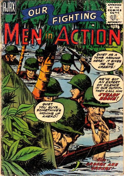 Cover for Men in Action (1957 series) #2