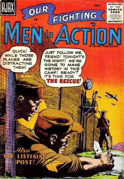 Cover for Men in Action (Farrell, 1957 series) #3
