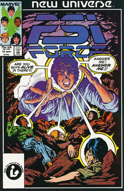 Cover for Psi-Force (Marvel, 1986 series) #11 [direct]
